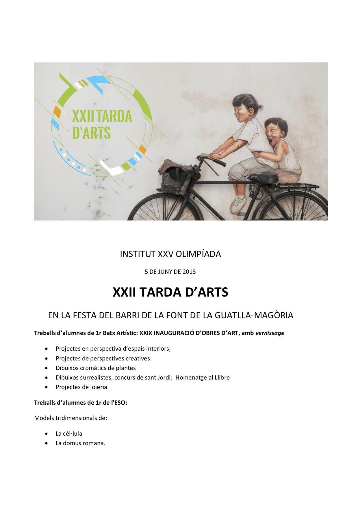 XXII TARDA D'ARTS (1)